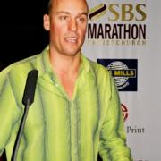 john as the mc for the 2005 SBS marathon event prize giving at the town hall in christchurch - over 3500 entries for what was a fantastic day! enthuse organised a mini radio station at the start/finish line which provided a fantastic atmosphere for the event. © enthuse